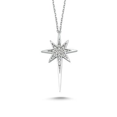 Online Takı Gümüş Kuyruklu Yıldız Kolye Renkli